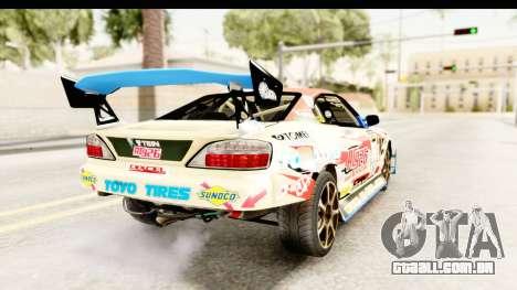 D1GP Nissan Silvia RC926 Toyo Tires para GTA San Andreas esquerda vista