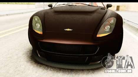 GTA 5 Dewbauchee Rapid GT SA Style para GTA San Andreas vista interior