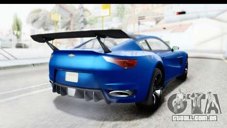 GTA 5 Dewbauchee Seven 70 para GTA San Andreas esquerda vista