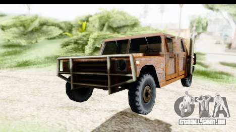 Rusted Patriot para GTA San Andreas vista direita