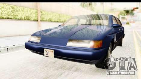 Solair Sedan para GTA San Andreas vista direita