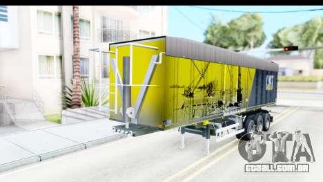 Trailer Caterpillar para GTA San Andreas vista direita