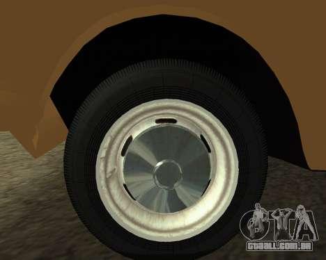 Moskvich 2715 Arménio para GTA San Andreas vista traseira