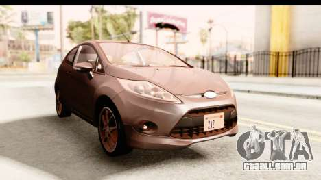 Ford Fiesta para GTA San Andreas vista direita