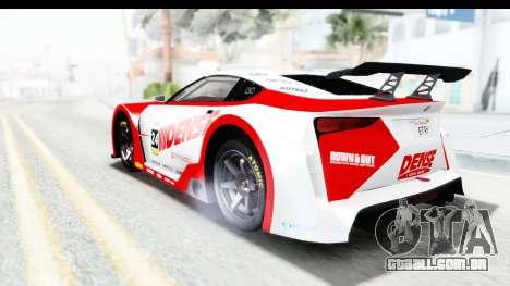 GTA 5 Emperor ETR1 v2 IVF para GTA San Andreas vista superior