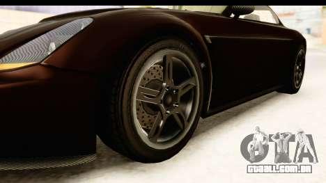 GTA 5 Dewbauchee Rapid GT SA Style para GTA San Andreas vista traseira