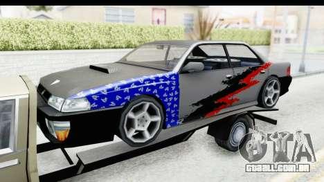 Limousine Auto Transporter para GTA San Andreas vista traseira