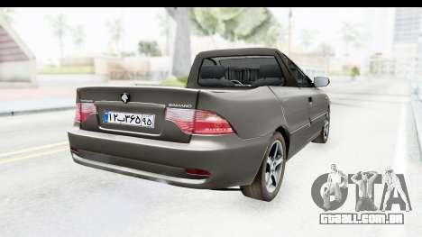 Ikco Samand Pickup v1 para GTA San Andreas traseira esquerda vista