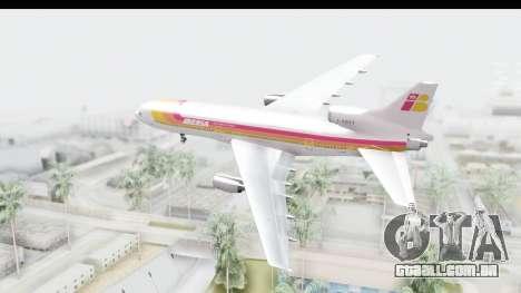 Lockheed L-1011-100 TriStar Iberia para GTA San Andreas vista direita