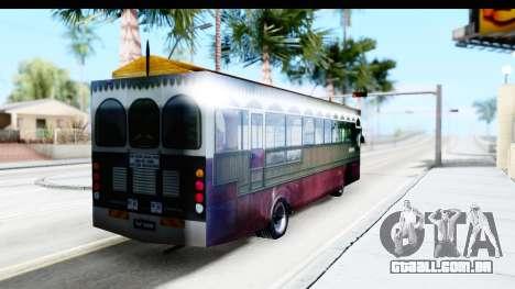 Cas Ligas Terengganu City Bus Updated para GTA San Andreas traseira esquerda vista