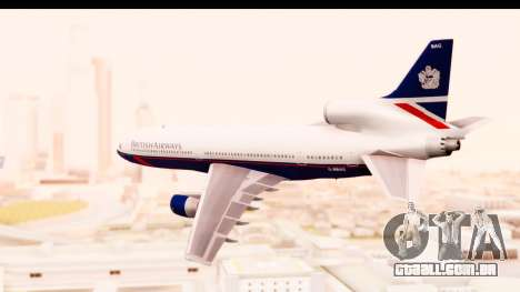 Lockheed L-1011-100 TriStar British Airways para GTA San Andreas esquerda vista