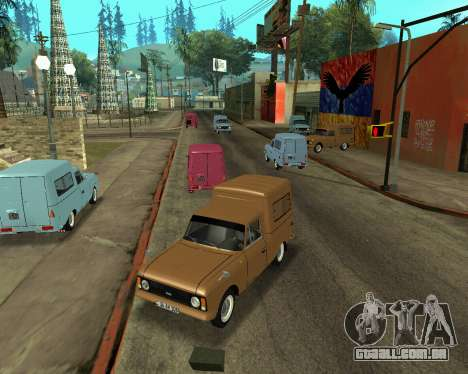 Moskvich 2715 Arménio para GTA San Andreas vista interior