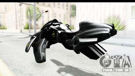 Spectre Hoverbike para GTA San Andreas traseira esquerda vista