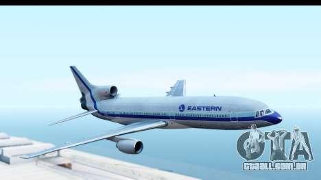 Lockheed L-1011-100 TriStar Eastern Airlines para GTA San Andreas traseira esquerda vista