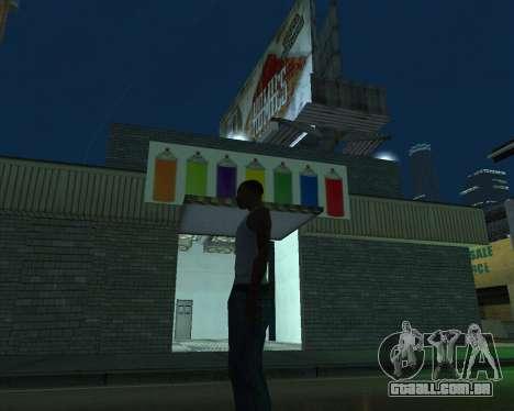 Pinte a garagem para GTA San Andreas terceira tela