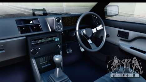 NFS 2015 Toyota AE86 para GTA San Andreas vista interior
