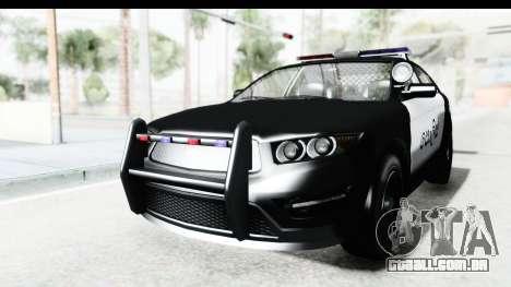 Sri Lanka Police Car v1 para GTA San Andreas traseira esquerda vista