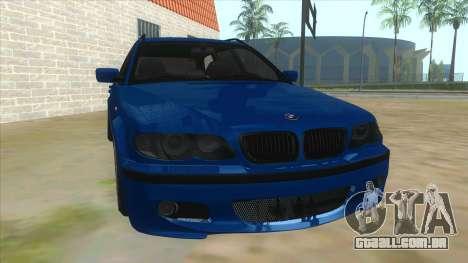 BMW E46 Touring Facelift para GTA San Andreas vista traseira