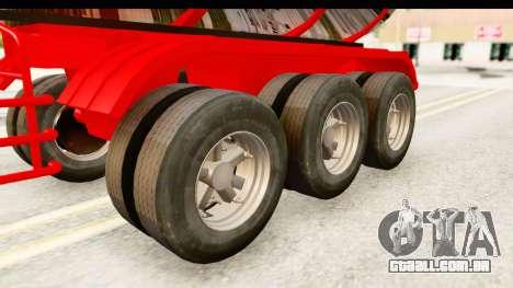 Trailer Fuel para GTA San Andreas vista traseira