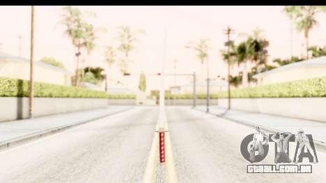 Bleach - Rukia Weapon para GTA San Andreas segunda tela
