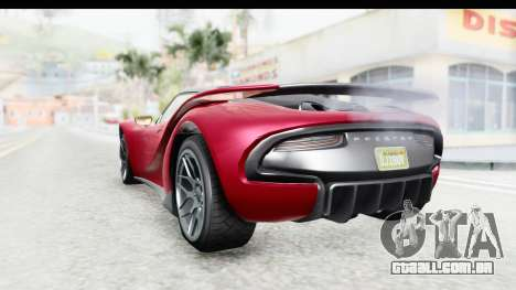 GTA 5 Pfister 811 with Mip Map para GTA San Andreas vista direita