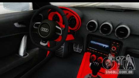 Audi TT RS para GTA San Andreas vista traseira