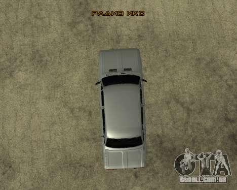 VAZ 2106 arménio para GTA San Andreas vista superior