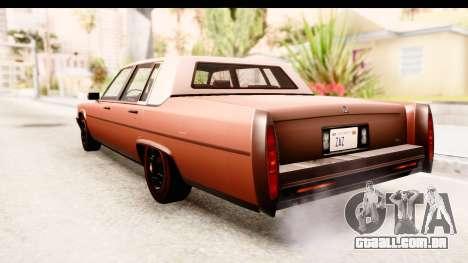 GTA 5 Albany Emperor SA Style para GTA San Andreas vista direita