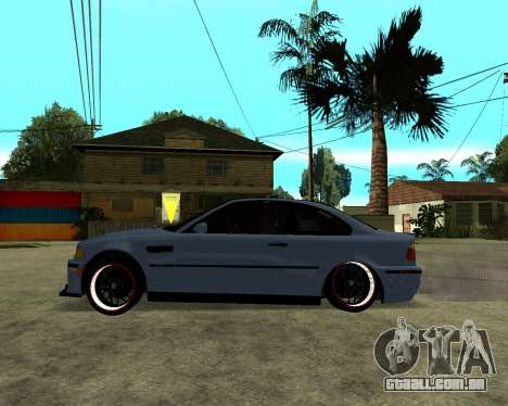 BMW M3 Armenian para GTA San Andreas vista traseira