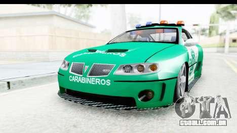 Pontiac GTO 2006 Carabineros De Chile para GTA San Andreas vista direita