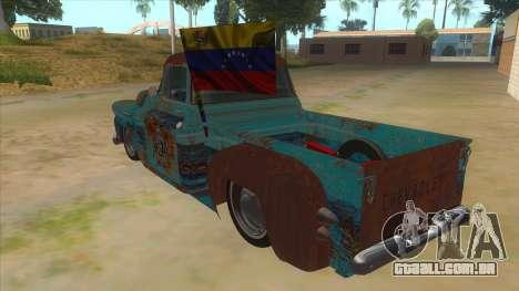 Chevrolet Apache para GTA San Andreas traseira esquerda vista