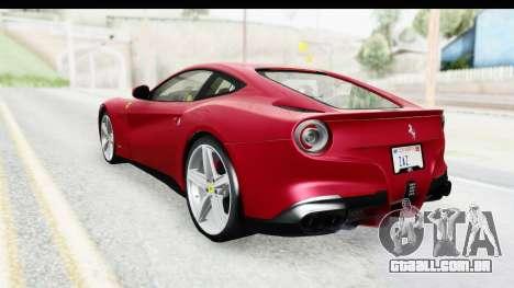 Ferrari F12 Berlinetta 2014 para GTA San Andreas esquerda vista