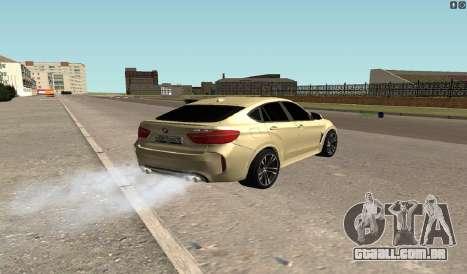 BMW X6M Bulkin para GTA San Andreas traseira esquerda vista