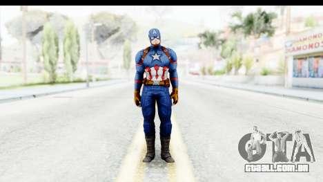 Marvel Heroes - Capitan America CW para GTA San Andreas segunda tela