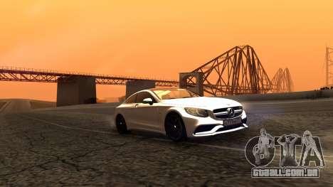 Mercedes-Benz S63 Coupe para GTA San Andreas traseira esquerda vista