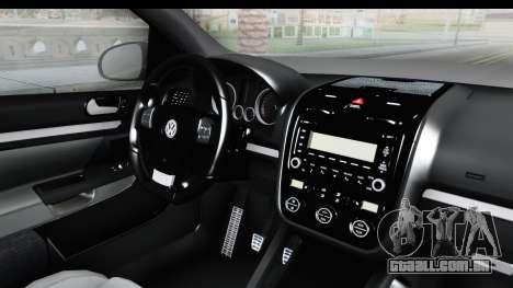Volkswagen Golf 5 Stock para GTA San Andreas traseira esquerda vista