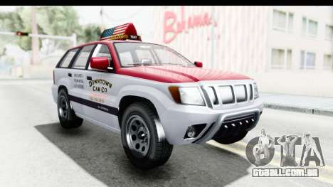 GTA 5 Canis Seminole Downtown Cab Co. Taxi para GTA San Andreas vista direita