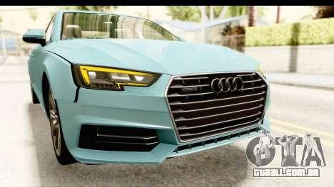 Audi A4 TFSI Quattro 2017 para GTA San Andreas vista superior