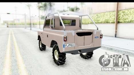 Land Rover Pickup Series3 para GTA San Andreas traseira esquerda vista