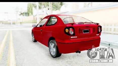 Renault Megane Coupe para GTA San Andreas esquerda vista