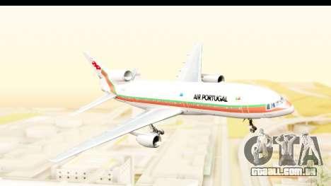 Lockheed L-1011-100 TriStar TAP Portugal para GTA San Andreas traseira esquerda vista