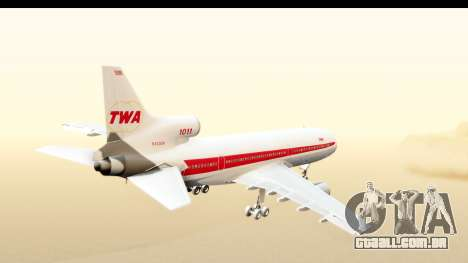 Lockheed L-1011-100 TriStar Trans World Airlines para GTA San Andreas vista direita