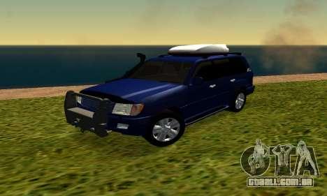 Toyota Land Cruiser 100vx2 para GTA San Andreas esquerda vista
