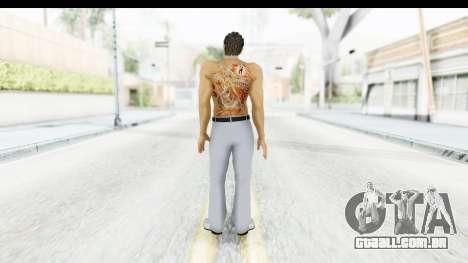 Yakuza 5 Kazuma Kiryu Topless Tatoo para GTA San Andreas terceira tela