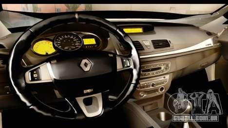 Renault Fluence v2 para GTA San Andreas vista interior