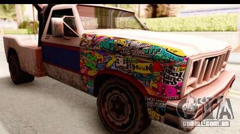 Towtruck Sticker Bomb para GTA San Andreas vista traseira