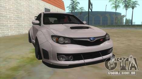 2008 Subaru WRX Widebody L3D para GTA San Andreas vista traseira