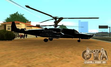 KA-50 Black Shark para GTA San Andreas esquerda vista
