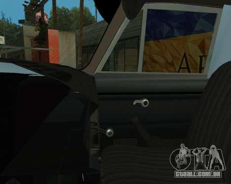 Moskvich 2715 Arménio para GTA San Andreas interior