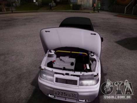 VAZ 2112 GVR qualidade para GTA San Andreas traseira esquerda vista